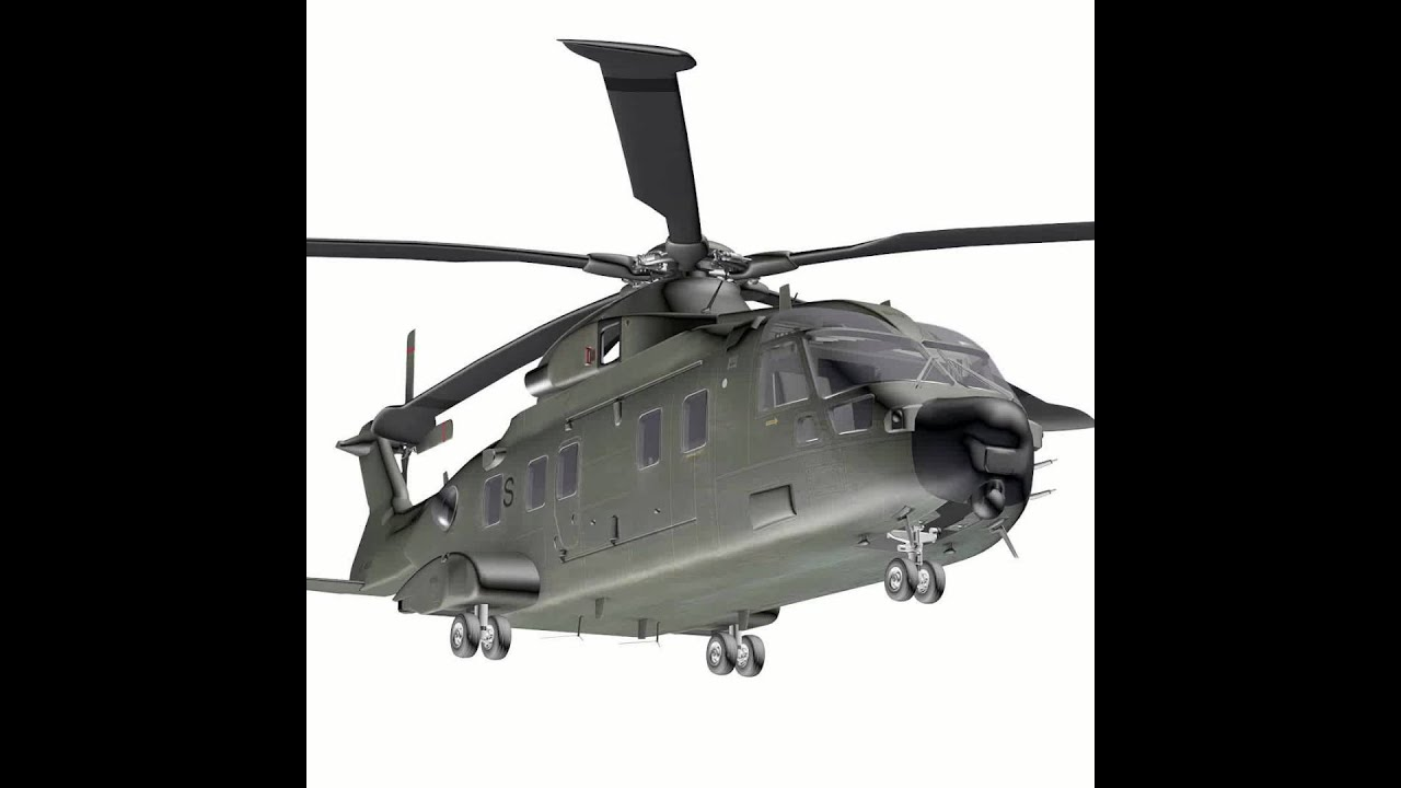 Augusta Westland Eh101 Transport Helicopter 3d Model From – Dibujos