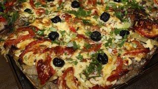 Казахское блюдо коктал из сазана в духовке.
