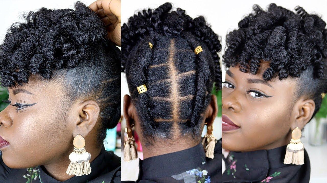 Braidless Crochet Hair Style For Short Natural Hair
