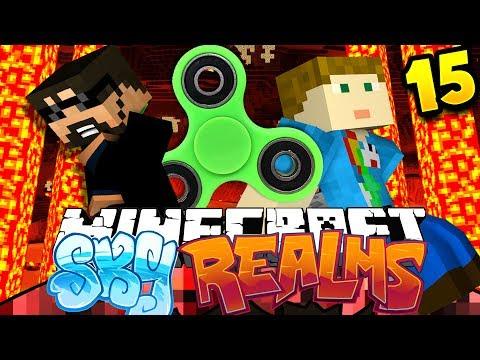 Minecraft: SKYREALMS   FIDGET SPINNER CHALLENGE??