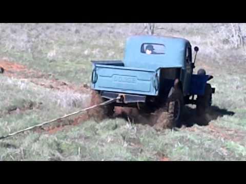 1948 Dodge Power Wagon pulling log