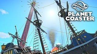 Planet Coaster - Самый высокий аттракцион! #11