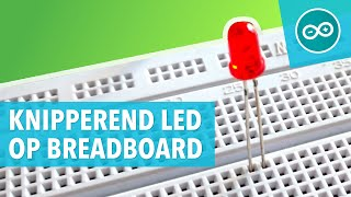 #2 Knipperende LED op breadboard