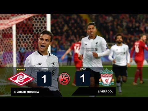 SPARTAK MOSCOW vs LIVERPOOL 1-1 All Goals & Highlights Champions League - 26 September 2017