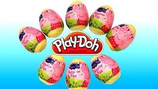 Play Doh Peppa Pig Surprise Eggs 2014 Easter Holiday Edition Make Peppa using Play Dough Nickelodeon