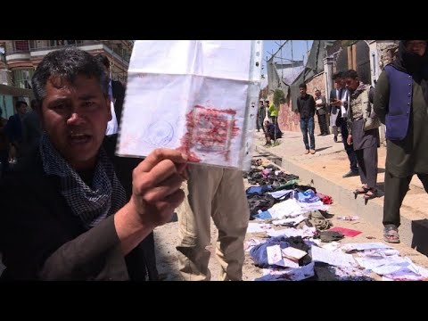 Suicide attack on Kabul voter registration centre kills 57