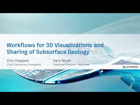 Webcast Sept 6th: Workflows for 3D Visualizations and Sharing of Subsurface Geology