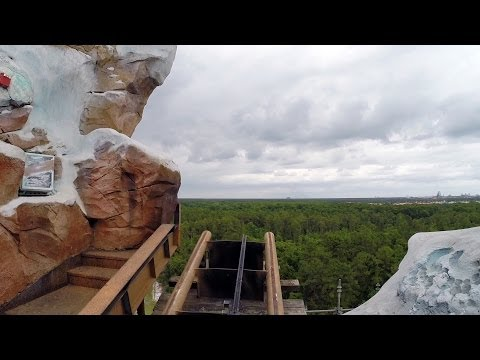 Terrifying Expedition Everest Ride POV W Broken Track Missing! Animal Kingdom Walt Disney World