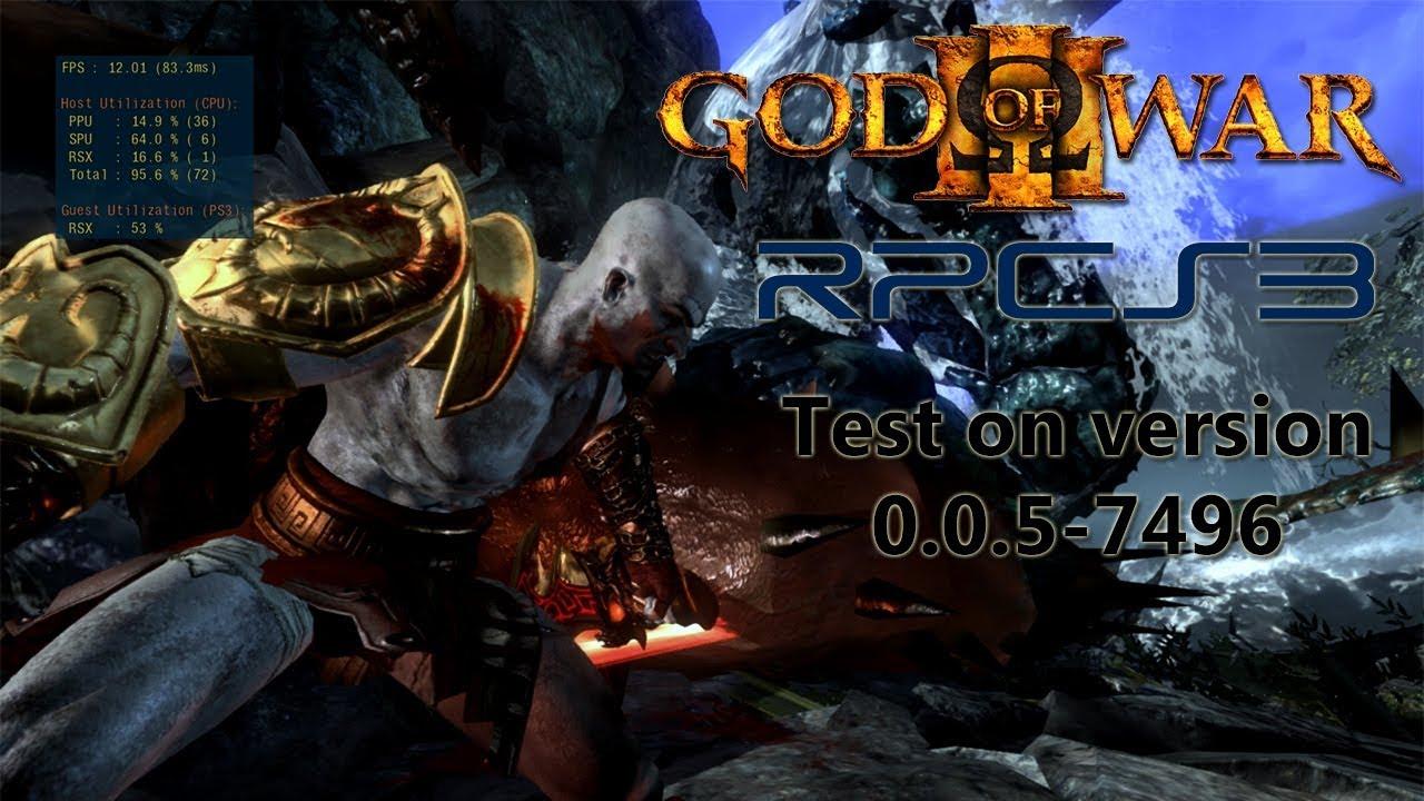 RPCS3 0 0 5-7496   God of War 3 Test   Intel I5 8400 & Nvidia 1060 by  tutukaX