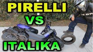 ITALIKA vs PIRELLI Mejora La frenada de tu Italika