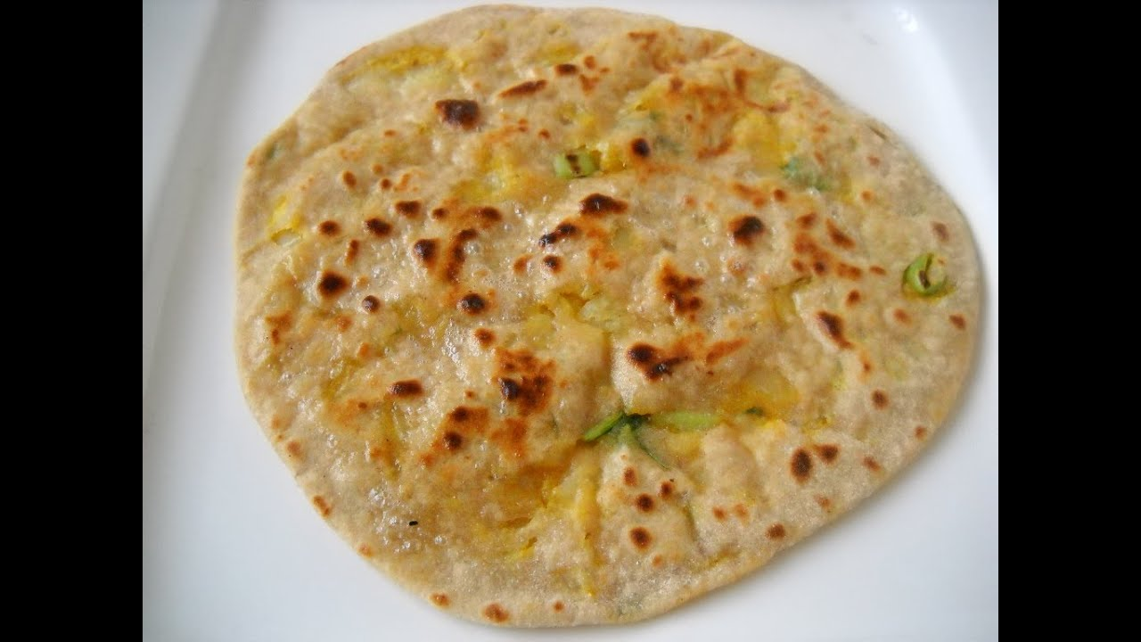 Aloo Paratha - Potato stuffed flat bread - YouTube