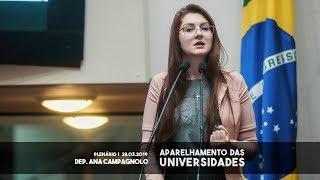 Aparelhamento das universidades Dep. Ana Campagnolo