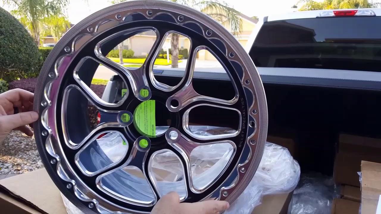 """Fox Body Wheels >> New S550 Mustang Drag Wheels by Billet Specialties: Win-Lite 18"""" Fronts / 17"""" Beadlock Rear ..."""