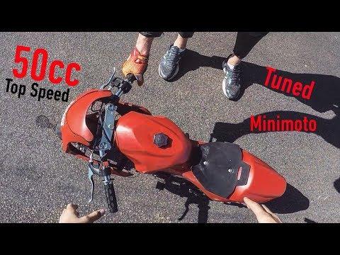 Minimoto Top speed (Tuned) | Fast Pocket bike | 50cc - YouTube