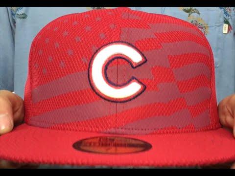 0cb06d3dfec Cubs  2015 JULY 4TH STARS N STRIPES  Hat by New Era - YouTube
