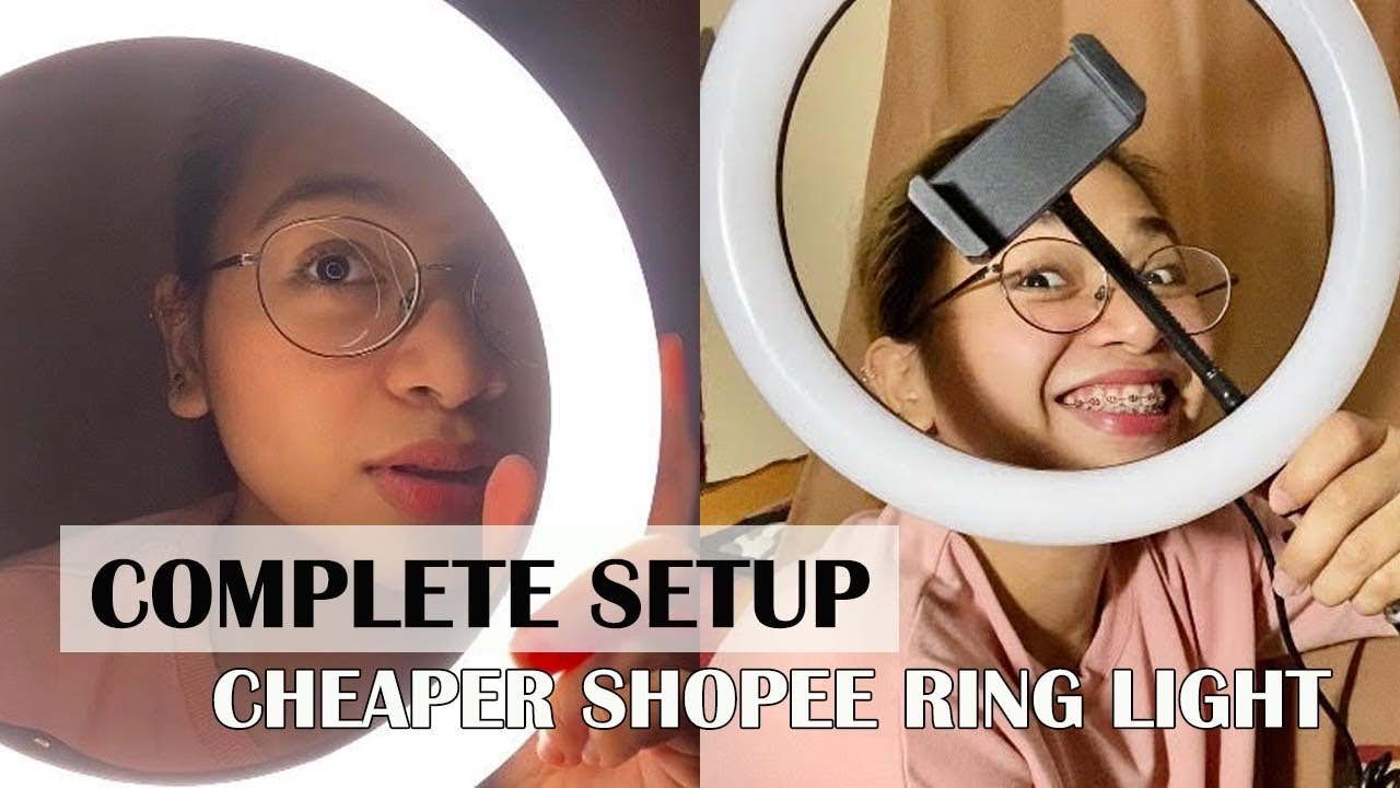 AFFORDABLE RING LIGHT W/TRIPOD FROM SHOPEE (Unboxing & Assembling)