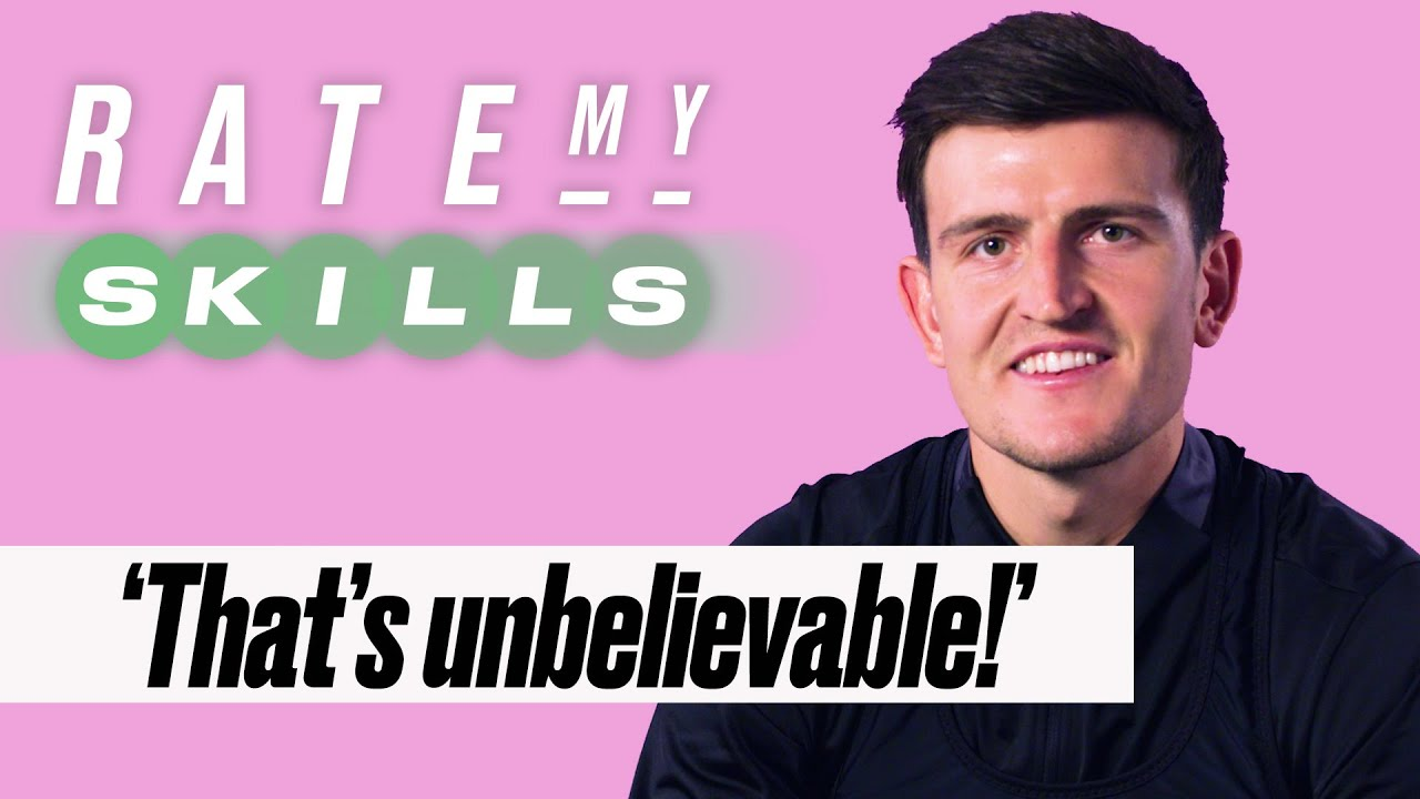 Harry Maguire Rates Your Football Skills | Rate My Skills | SPORTbible