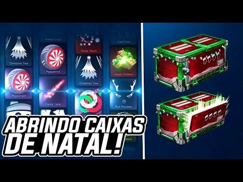 DEU BOM?! ABRINDO 10 CAIXAS DE NATAL!!! - Rocket League