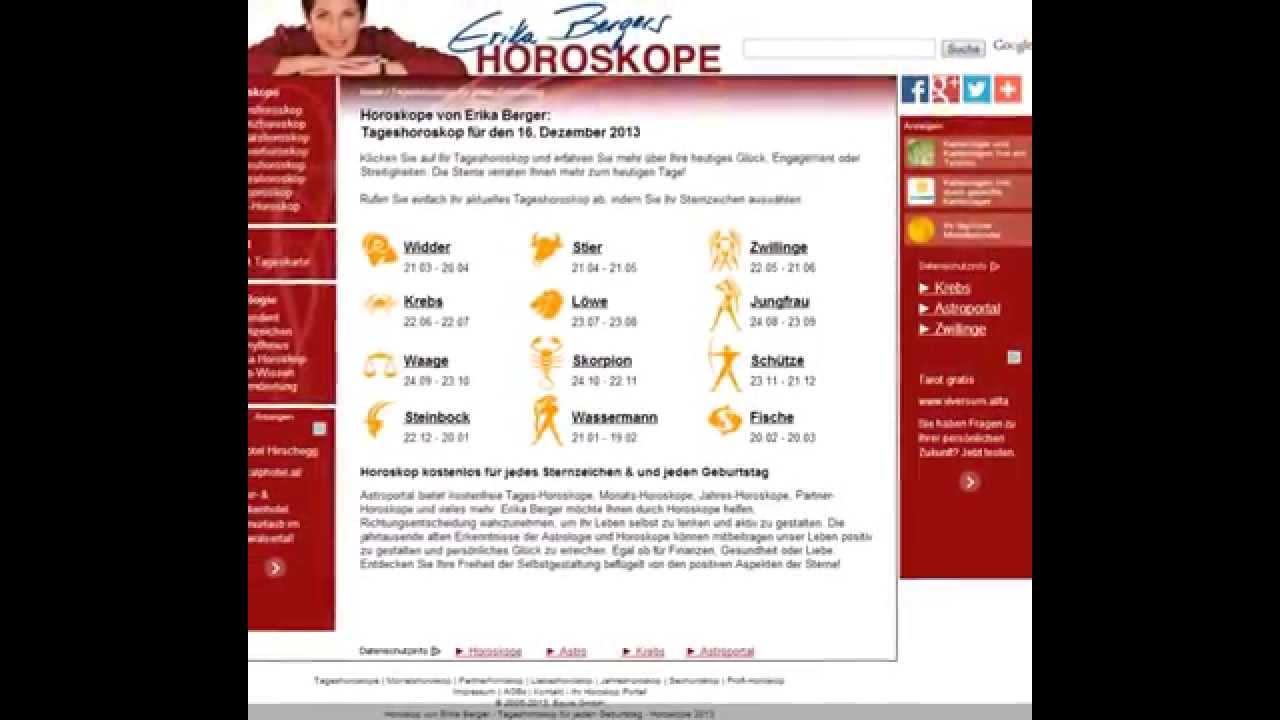 Horoskop Wassermann Morgen Erika Berger