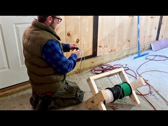 Wham BAM!💥Building a DIY Wire Spool Caddy NOW it's Time to Wire up the WorkSHOP