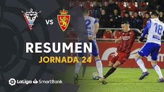 Resumen de CD Mirandés vs Real Zaragoza (1-1)