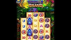GORILLA GRAND Video Slot Casino Game with a RETRIGGERED FREE SPIN BONUS