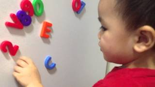 18 month old knows his abc s