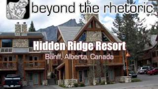 Hidden Ridge Resort in Banff, Alberta, Canada