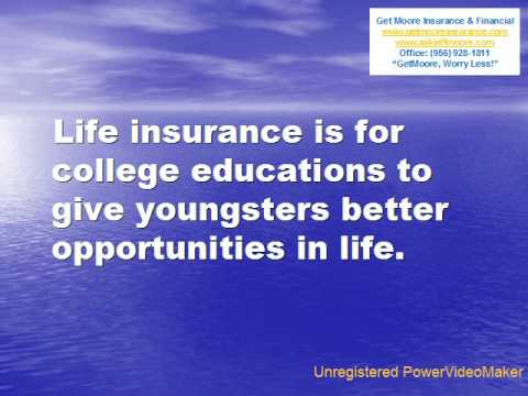 The Importance of Life Insurance by GetMoore Insurance - YouTube