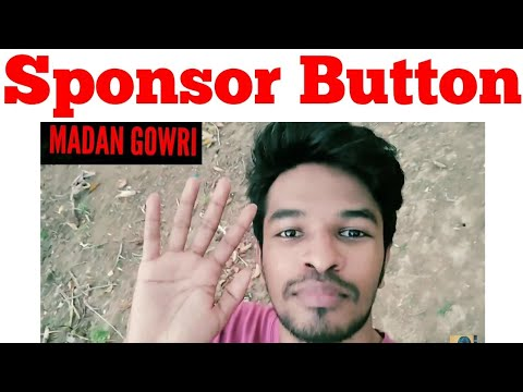 Sponsor button | Tamil | Madan Gowri | MG Vlog