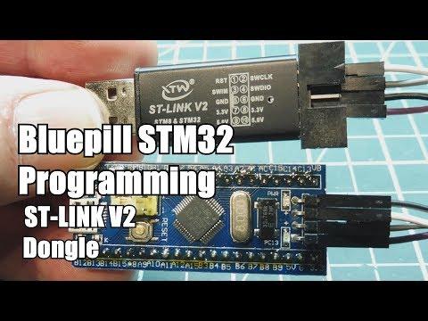 Blue-pill STM32 Programming Using ST-LINK V2 Dongle