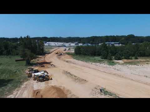Construction of Sawmill Rd in Chandler, TX