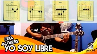 Libre Soy - Yo soy libre - Rey de Reyes Guitarra Acordes (Guitar Cover)