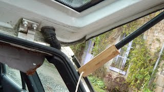 Low Cost, Low-tech Car Repairs - Tailgate Gas Strut Fix With Pallet Wood