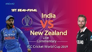 India vs New Zealand #INDvNZ - Cricket LIVE  - ICC Cricket World Cup 2019 - 1st Semifinal