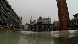Venice under water after 'acqua alta' of rain and high tides
