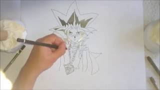 Cómo dibujar a Yugi/ Faraón//How To draw Yugi