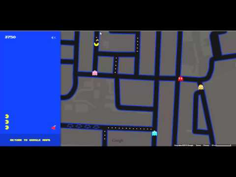 Google Prank 2015 : Pac man in google maps and Elgoog