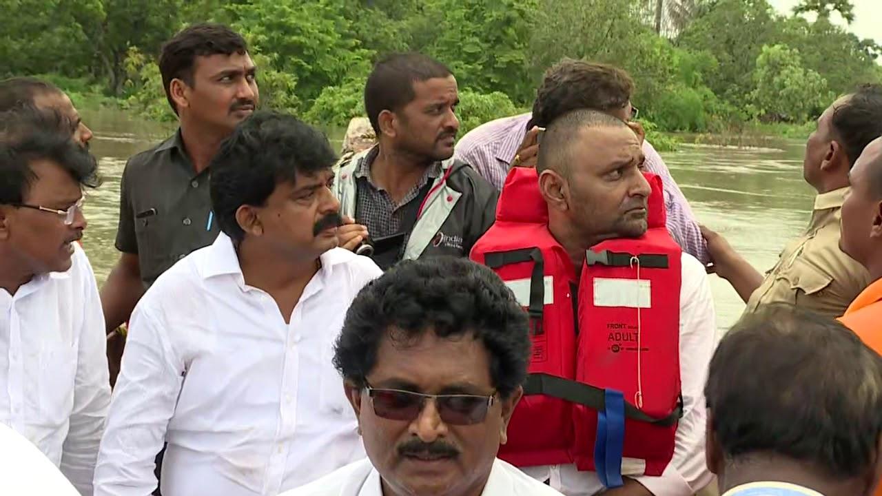 AP Ministers Visited Flood Effected Areas || Vijayawada