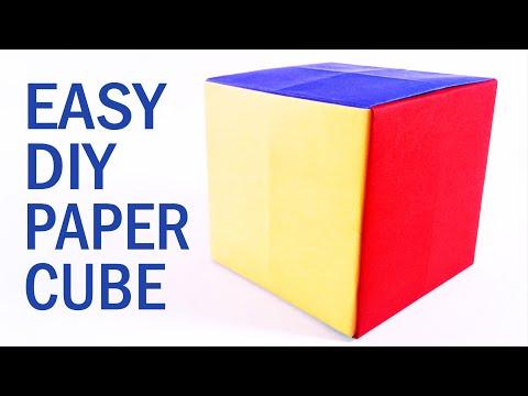 EASY DIY PAPER CUBE TUTORIAL | The EASIEST way (2019)