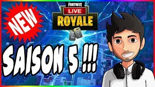 NUEVO - SAISON 5 - COMBAT PASS #FORTNITE BATTLE ROYALE - OBJ 10k - FaceCam