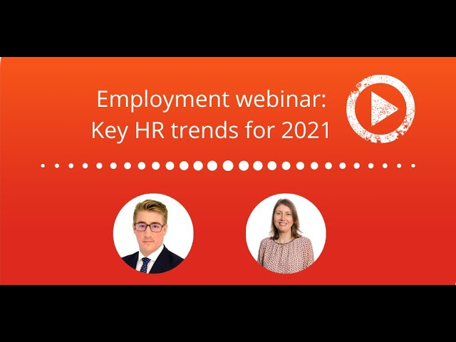 Employment Webinar | Key HR trends for 2021