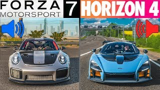 Forza Horizon 4 vs Forza Motorsport 7 | Which game has better sounds?