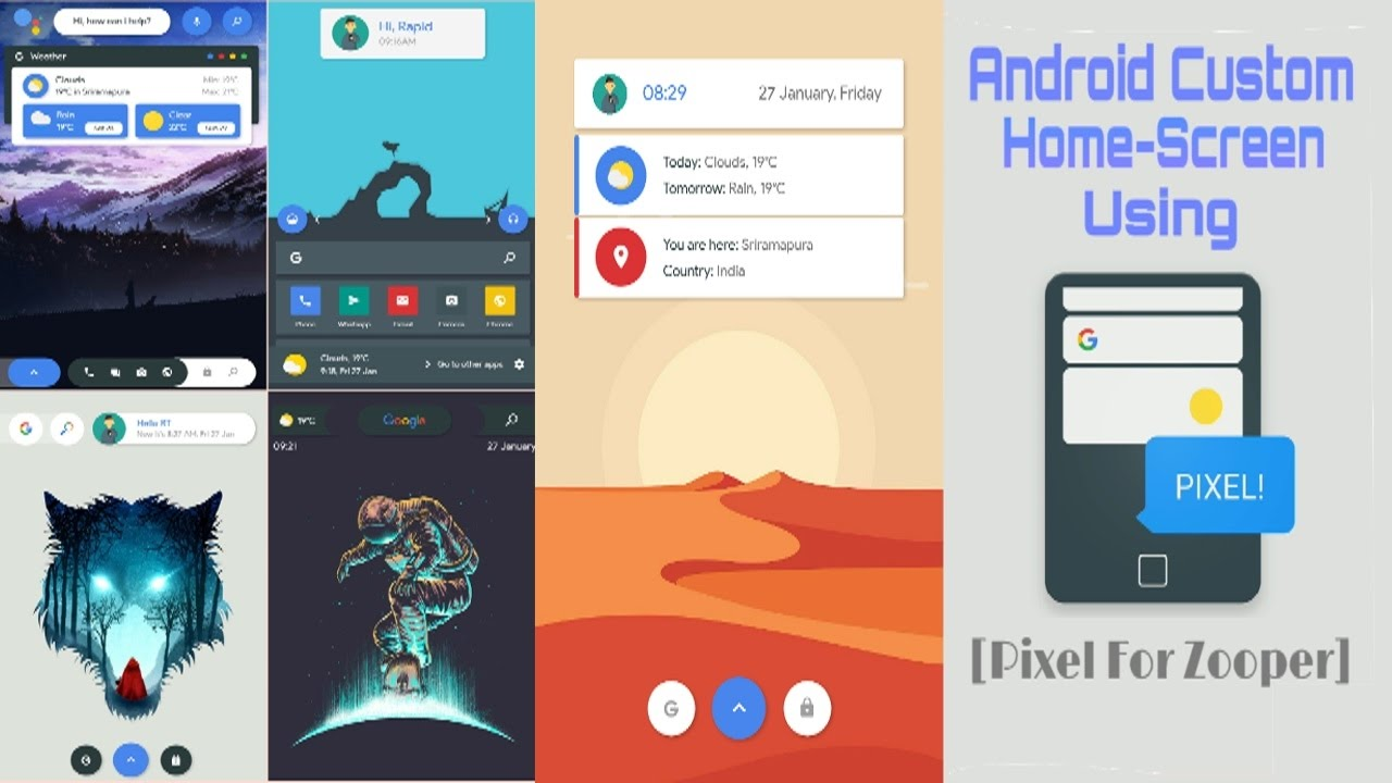 1 Best Android Homescreen Setup || Pixel For Zooper - YouTube