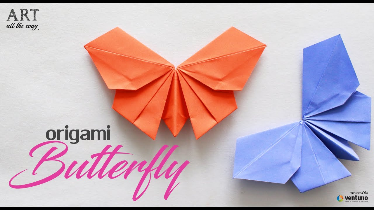 How to fold origmai butterfly paper craft youtube for Craft work with paper folding
