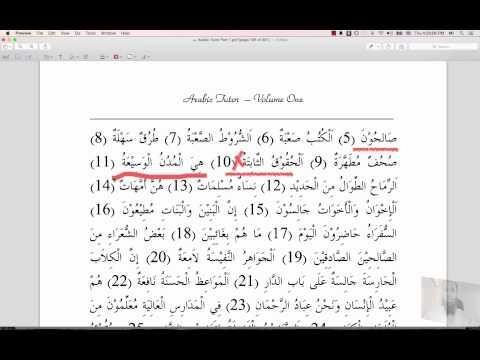 Arabic Tutor Part One - Lesson 9 - الجمع المكسر The Broken Plural
