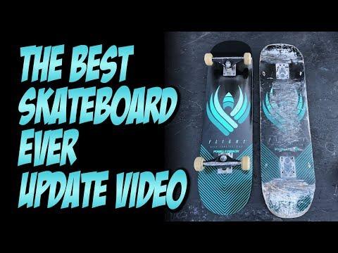 BEST SKATEBOARD EVER UPDATE VIDEO !!! POWELL FLIGHT BOARDS   NKA VIDS