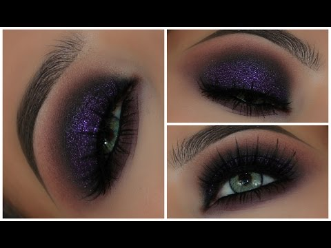 Purple Glitter Grunge Eyeshadow Look