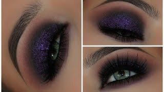 Purple Glitter Grunge Eyeshadow Look   Amys Makeup Box