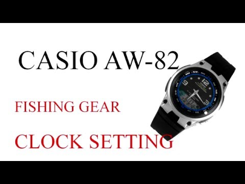 858a685c13a CASIO FISHING GEAR AW-82 setting clock guidelines